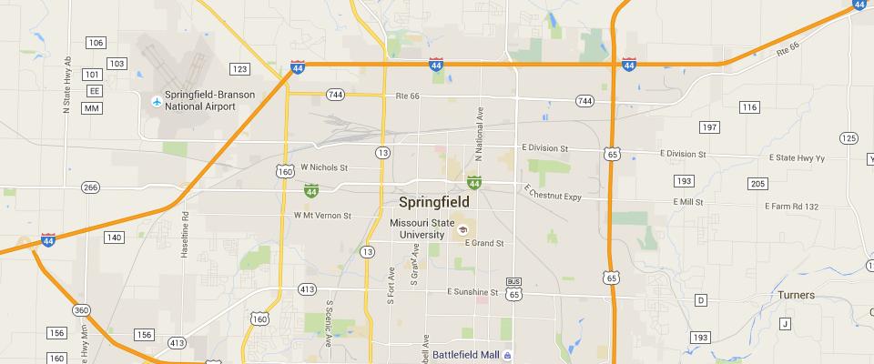 Springfield Disposal Service Area Map